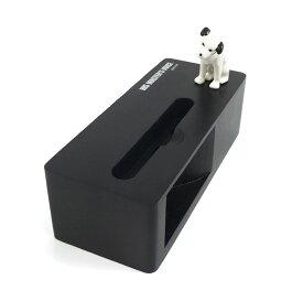 立体ニッパー・スマホ・スタンド&スピーカー(充電コード仕様/ブラック)