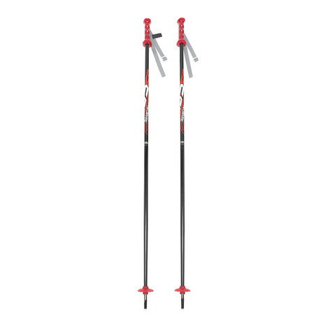 スノーカービング(SNOW CARVING) レギュラー スキーポール 312SC7SI1059 RD スキーストック (Jr)