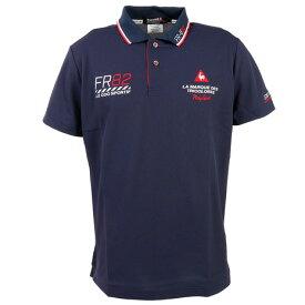 ルコック スポルティフ(Lecoq Sportif) ドライ鹿の子シーズンマーキング半袖シャツ QGMPJA25-NV00 (メンズ)