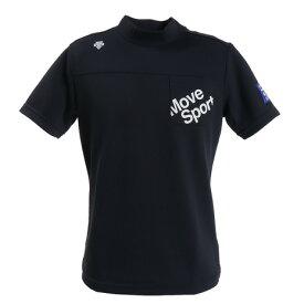 【7/10 0:00-23:59 0のつく日エントリーで5倍〜】 デサントゴルフ(DESCENTEGOLF) ゴルフ ポロシャツ メンズ ポイントメッシュハイネックシャツ DGMPJA44-BK00 (Men's)