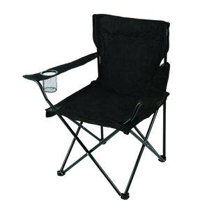 Whole Earth アウトドア チェア 折りたたみ椅子 LUCKY TIME CHAIR WE23DC29 BLKバーベキュー キャンプ スチール 黒 ブラック カップホルダー (メンズ、レディース)