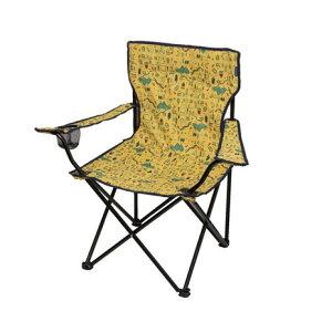 ホールアース(Whole Earth) アウトドア チェア 折りたたみ椅子 ラッキータイムチェア WE23DC29 YELバーベキュー キャンプ スチール 黄色 イエロー カップホルダー (メンズ、レディース)