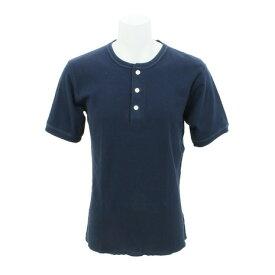 ヘルスニット(Healthknit) 【多少の傷汚れありの為大奉仕】ベーシック ワッフル ヘンリーネックtシャツ 半袖 601S-NAVY (Men's)