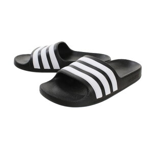 アディダス(adidas) サンダル レディース ぺたんこ シャワーサンダル ADILETTE AQUA K F35556 ブラック 黒 (キッズ)