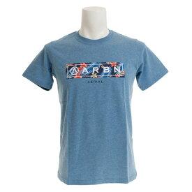 エアボーン(ARBN) 【ポイント15倍】【多少の傷汚れありの為大奉仕】Tシャツ メンズ 半袖 BOTANICAL BAR AB99AW1176 BLU (メンズ)