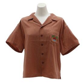 パワー・トゥ・ザ・ピープル(POWER TO THE PEOPLE) 刺繍開衿シャツ 9512517-15PNK (Lady's)
