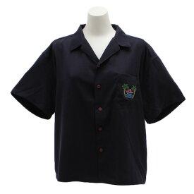 パワー・トゥ・ザ・ピープル(POWER TO THE PEOPLE) 刺繍開衿シャツ 9512517-60NAV (Lady's)