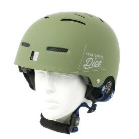 ダイス(DICE) D5 SNOW HELMET サイズ L メンズ ヘッドギア スノーヘルメット カーキ (Men's、Lady's)