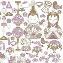 ポーセラーツ 転写紙 GIRL'S FESTIVAL(ガールズフェスティバル) ひな祭り 女の子 桃の節句 gray purple