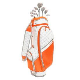 ツアーステージ(TOURSTAGE) ゴルフクラブセットTOURSTAGE CL 8本セット キャディバッグ付き (1W、4W、U5、I7、I9、PW、SW、PT) オレンジ (レディース)