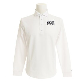 フィドラ(FIDRA) ゴルフウェア メンズ セミワイドカラー長袖ポロシャツ FDA0304-WHT (Men's)