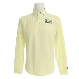 フィドラ(FIDRA) ゴルフウェア メンズ セミワイドカラー長袖ポロシャツ FDA0304-YEL (Men's)