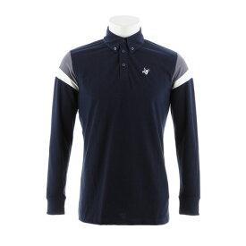クランク(CLUNK) ゴルフウェア メンズ 長袖ポロシャツ CL38TG03 NVY (Men's)