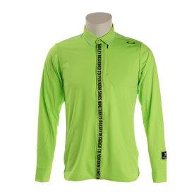 オークリー(OAKLEY) ゴルフ ウエア ポロシャツ メンズ SKULL WINDPRO 長袖ポロシャツ 434483JP-74G (メンズ)