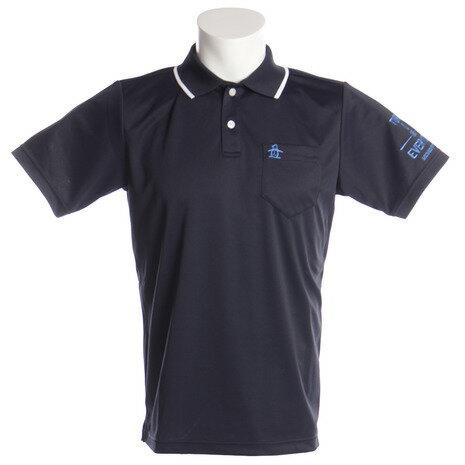 マンシングウエア(MUNSING WEAR) サンスクリーン 鹿の子半袖ポロシャツ MGMLJA34-NV00 (Men's)