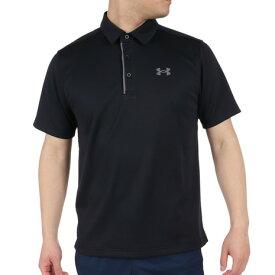 アンダーアーマー(UNDER ARMOUR) ゴルフ ポロシャツ メンズ テックポロシャツ 1290140 BLK/GPH/GPH GO (Men's)
