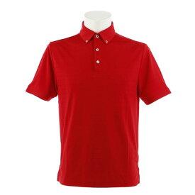 PG ゴルフウェア メンズ ジャガードボーダー半袖ポロシャツ PGLS-1905 RED (Men's)