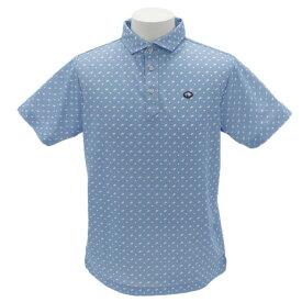 フィドラ(FIDRA) ゴルフウェア メンズ 総柄プリントシャツH9 FI51TG15 SAX (Men's)