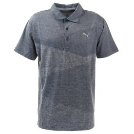 【20%OFFクーポン対象商品】プーマ(PUMA) ゴルフ ポロシャツ メンズ オルタニットジャガードポロシャツ597532-04 (メンズ)