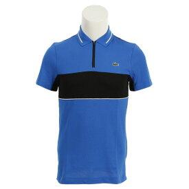 ラコステ(LACOSTE) ゴルフウェア メンズ スポーツコントラスト バンドテクニカルピケ ゴルフ ポロシャツ DH9450L-BNP (Men's)