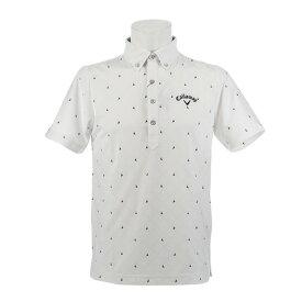 ec52ac305eb61 キャロウェイ(CALLAWAY) ゴルフウェア メンズ ヨットプリント ボタンダウンカラーシャツ 241-9157520