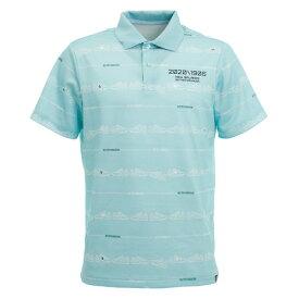 ニューバランス(new balance) ゴルフ ポロシャツ メンズ ロゴプリント シューズ柄ボーダー 半袖012-0160010-111 (メンズ)