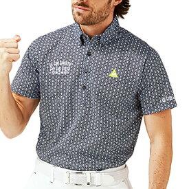 ルコック スポルティフ(Lecoq Sportif) ゴルフ ポロシャツ メンズ クーリストフェステントプリント半袖シャツ QGMPJA24-NV00 (メンズ)