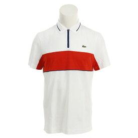 ラコステ(LACOSTE) ゴルフウェア メンズ スポーツコントラスト バンドテクニカルピケ ゴルフ ポロシャツ DH9450L-BNR (Men's)