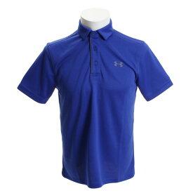 アンダーアーマー(UNDER ARMOUR) ゴルフウェア メンズ テックポロシャツ #1290140 RYL/GPH/GPH GO (Men's)