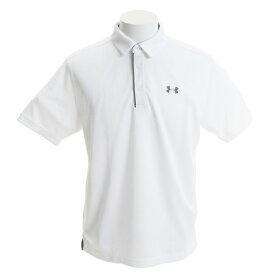 アンダーアーマー(UNDER ARMOUR) ゴルフウェア メンズ テックポロシャツ #1290140 WHT/GPH/GPH GO (Men's)