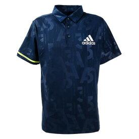 アディダス(adidas) ゴルフ ポロシャツ メンズ エンボスプリント 半袖ボタンダウンシャツ GKI23-FJ3830NV (Men's)