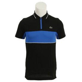 ラコステ(LACOSTE) ゴルフウェア メンズ スポーツコントラスト バンドテクニカルピケ ゴルフ ポロシャツ DH9450L-ELR (Men's)