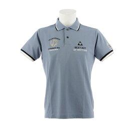 ルコック スポルティフ(Lecoq Sportif) ゴルフウェア メンズ マーキングデザインポロシャツ QGMNJA08-BL00 (Men's)