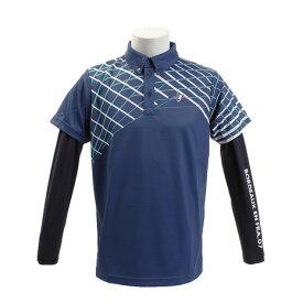 クランク(CLUNK) ゴルフウェア メンズ レイヤードポロシャツ CL51TG11 NVY (Men's)