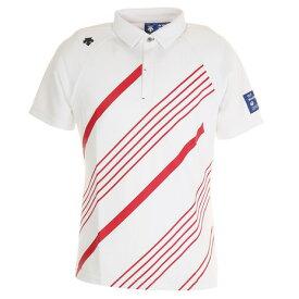 デサントゴルフ(DESCENTEGOLF) ゴルフ ポロシャツ メンズ CoolistD-Tec ライジングプリントシャツ DGMPJA38-WHRD (メンズ)