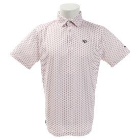 フィドラ(FIDRA) ゴルフウェア メンズ ミニフラワー 半袖ポロシャツ FI51TG09 WHT (Men's)