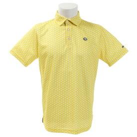 フィドラ(FIDRA) ゴルフウェア メンズ ミニフラワー 半袖ポロシャツ FI51TG09 YEL (Men's)