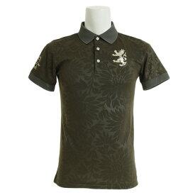 アドミラル(Admiral) ゴルフウェア メンズ フラワーエンボス 襟メッシュ ポロシャツ ADMA951-KHA (Men's)