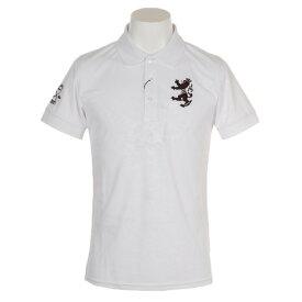アドミラル(Admiral) ゴルフウェア メンズ フラワーエンボス 襟メッシュ 半袖ポロシャツ ADMA951-WHT (Men's)