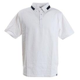 ピージー(PG) ゴルフウエア メンズ TCエリデザインポロシャツ PGLS-2006 WHT (メンズ)