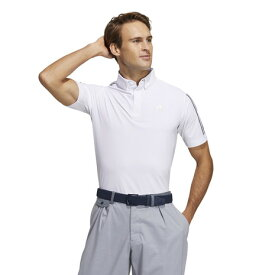 アディダス(adidas) スリーブストライプス 半袖ストレッチボタンダウンシャツ 23293-GM3610 W (メンズ)