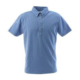 【クーポンあり!】フィドラ(FIDRA) ゴルフウェア メンズ チェックボタンダウンポロシャツ FI57TG97 BLU (Men's)