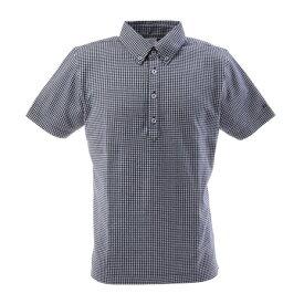 フィドラ(FIDRA) ゴルフウェア メンズ チェックボタンダウンポロシャツ FI57TG97 NVY (Men's)