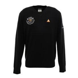 ルコック スポルティフ(Lecoq Sportif) マーキングデザインVネックセーター QGMOJL11-BK00 (Men's)