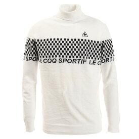 ルコック スポルティフ(Lecoq Sportif) ロゴチェッカーフラッグタートルネックインナーセーター QGMOJL07-WH00 (Men's)