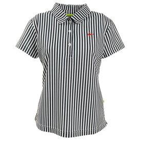 ビバハート(VIVA HEART) ゴルフウェア レディース ストライププリント半袖シャツ 012-29341-098 (Lady's)