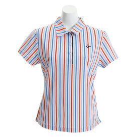 ビバハート(VIVA HEART) ゴルフウェア レディース ストライププリント半袖シャツ 012-29341-038 (Lady's)