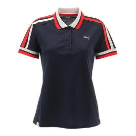 プーマ(PUMA) ゴルフ トリコロール 半袖ポロシャツ 930241-02 (レディース)