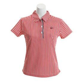 ビバハート(VIVA HEART) ゴルフウェア レディース ストライププリント半袖シャツ 012-29341-064 (Lady's)