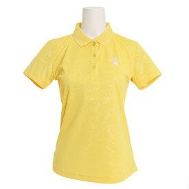アドミラル(Admiral) ゴルフウェア レディース フラワーエンボス 襟メッシュ ポロシャツ ADLA945-YEL (Lady's)